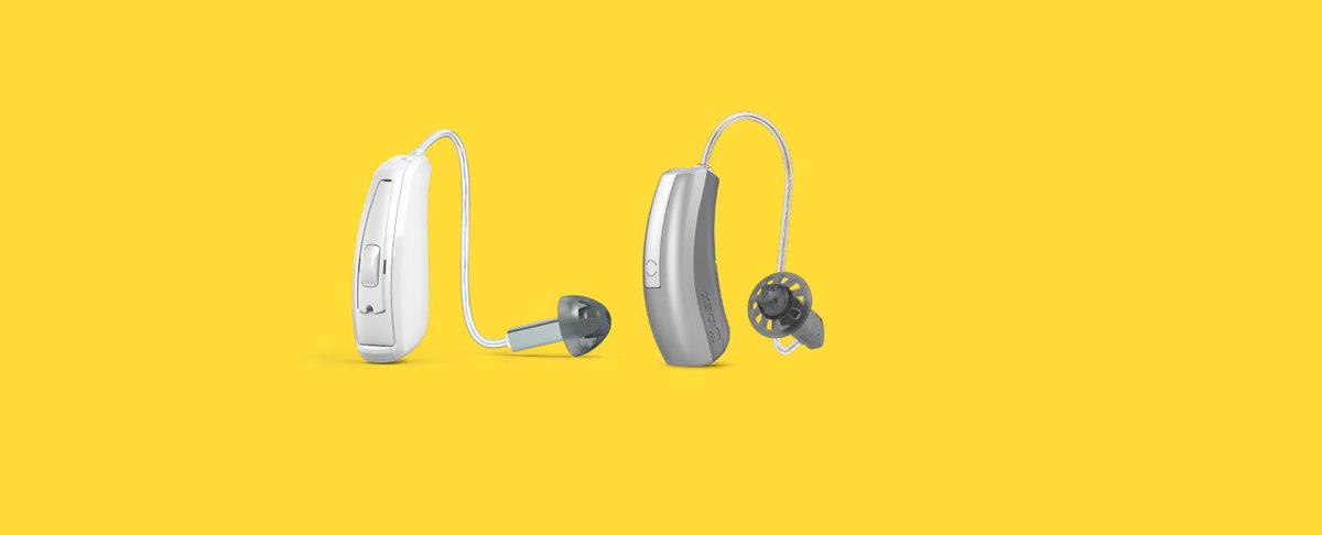 Hörgeräte nebeneinander